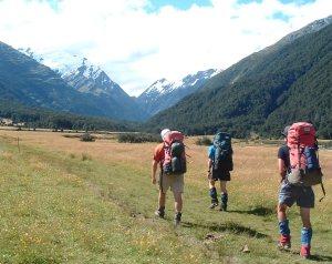 Easy walking up the Matukituki valley