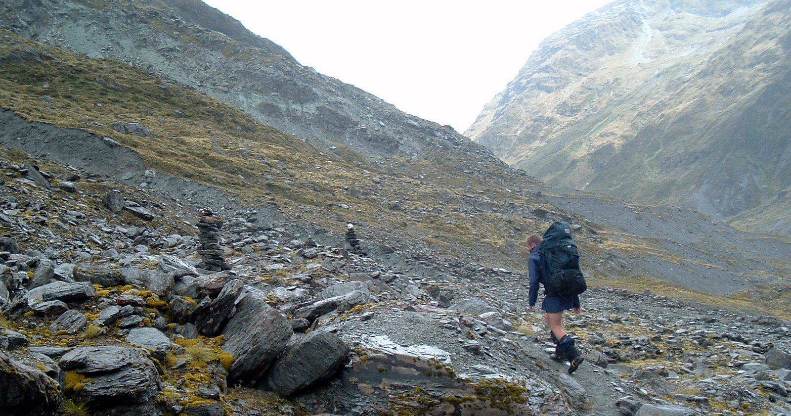 A wet walk down from Cascade Saddle