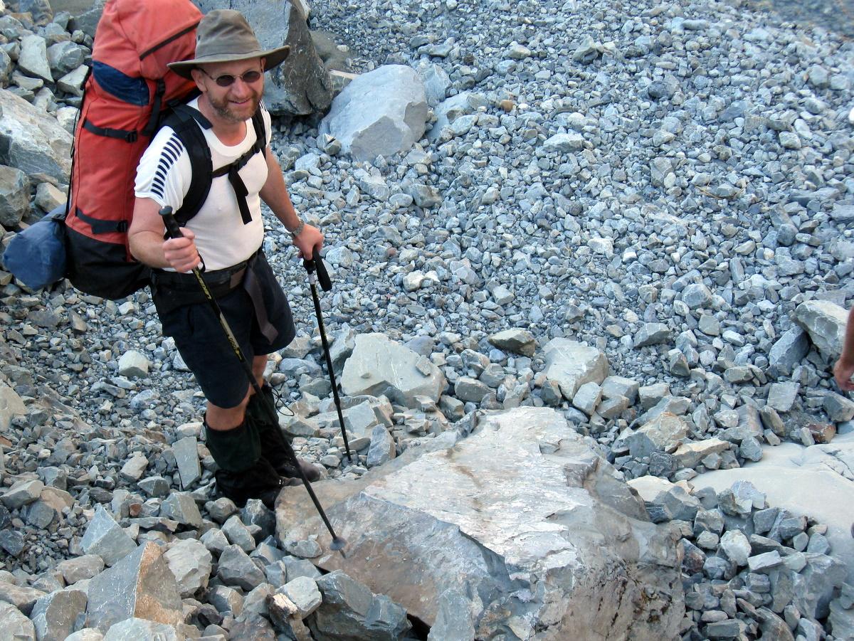 Magnus and his rock slab