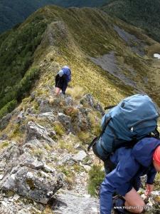 A razorback ridge