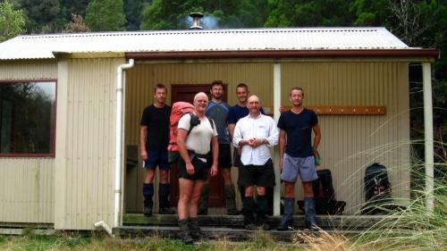 Moa Hunters lurking outside the Frew Hut