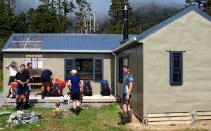"""The """"new"""" Cedar Flat hut"""