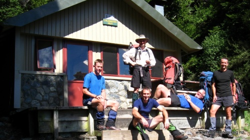 A lazy departure from Coldwater Hut.