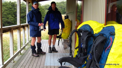 Packs off at Speargrass Hut