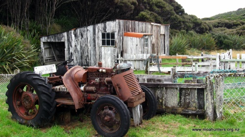 A rusting old tractor whose working days are over