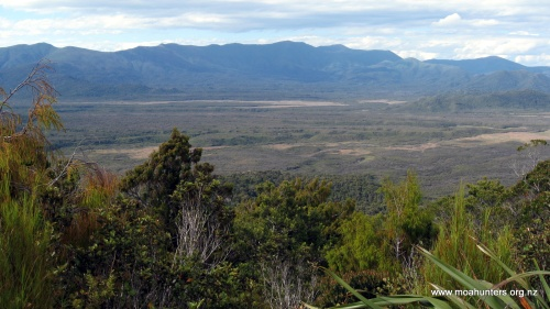 The view from Big Hellfire hut towards the Ruggedy Range