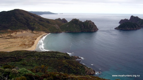 The view back to East Ruggedy beach
