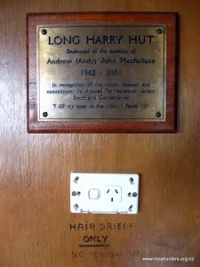 Long Harry hut has powerpoints...