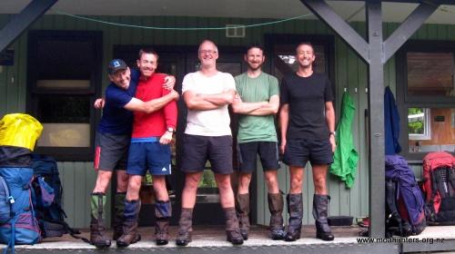 Our last hut team photo. Outside Port William hut